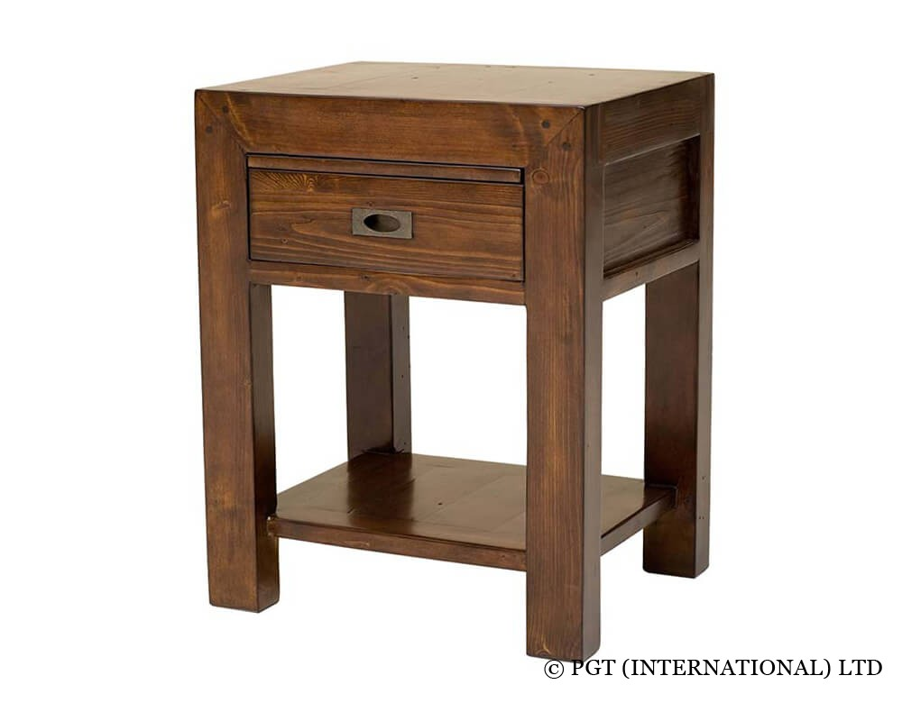 Post Rail Bedside Cabinet