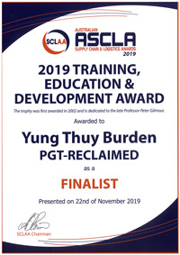 Training, Education and Development Award 2019