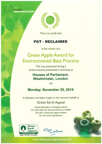 Green Apple Award for Environmental Best Practice 2019