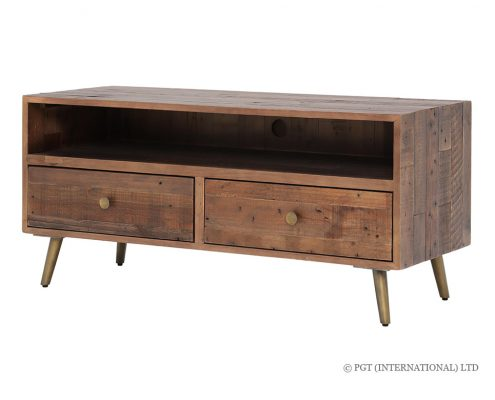 Bohemia TV Cabinet with 2 Drawers & Shelf