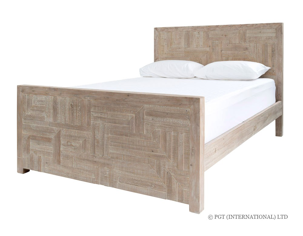 Rhodes recycled timber bed frame