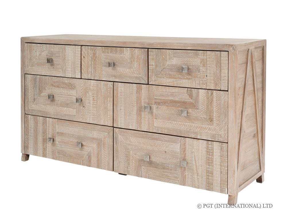 Rhodes recycled wood dresser