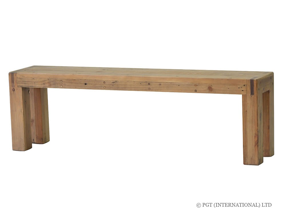 rustic post and rail bench