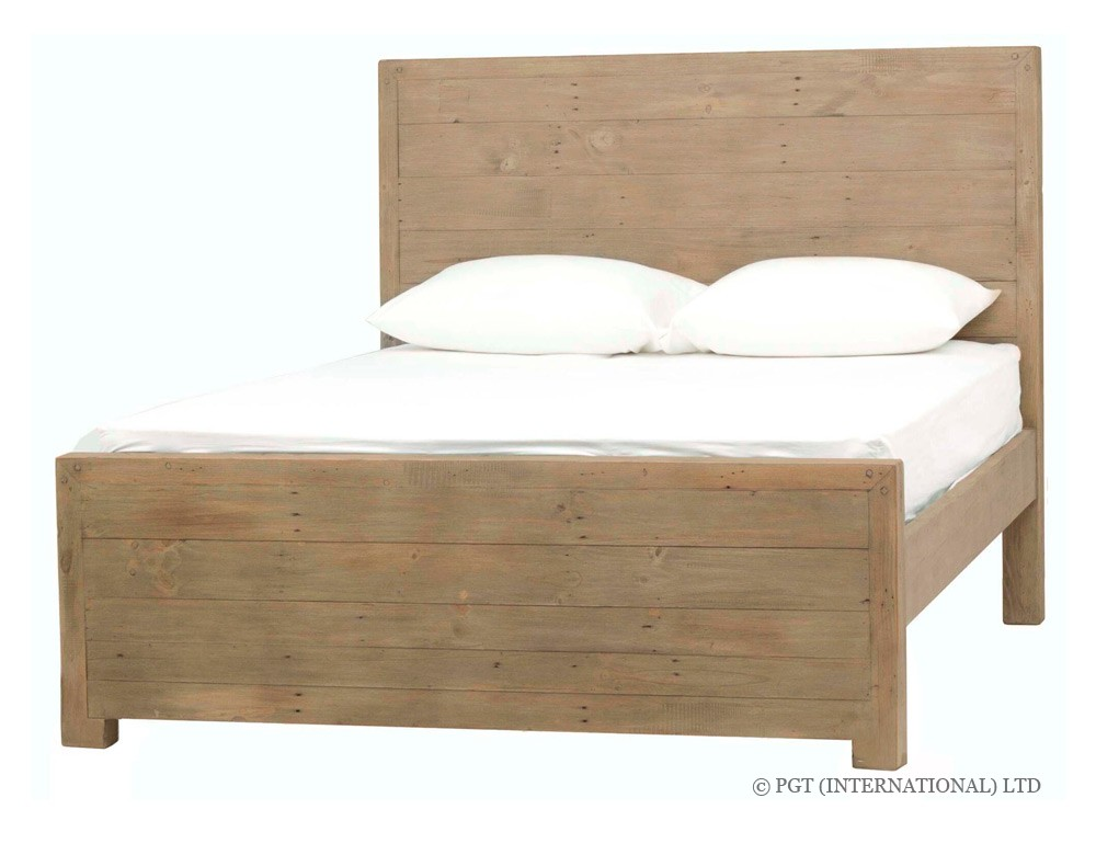 rustic post and rail bed