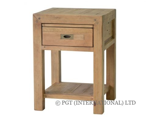 rustic post and rail bedside cabinet 2