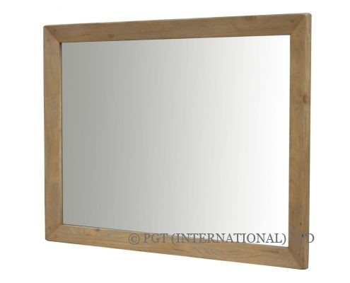 rustic post and rail mirror
