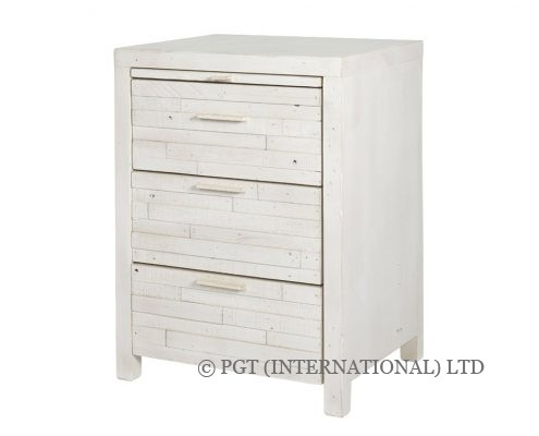 Santorini reclaimed wood bedside table