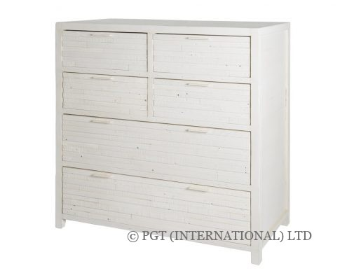 Santorini recycled wood tallboy dresser