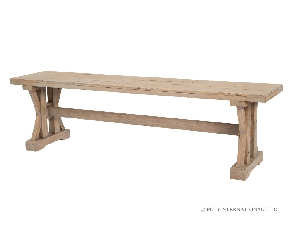 TuscanSpring reclaimed wood bench