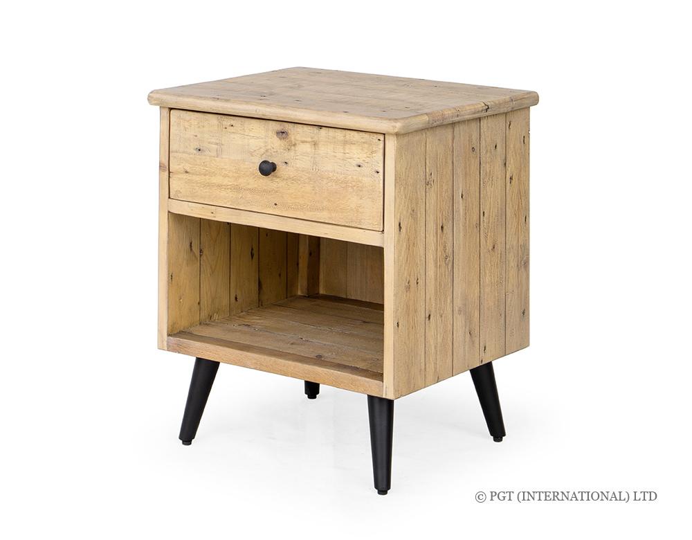 Valleta Bedside Cabinet with Shelf