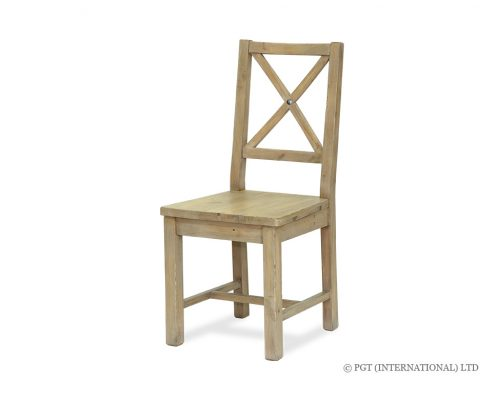 Valletta Dining Chair with Wooden Seat